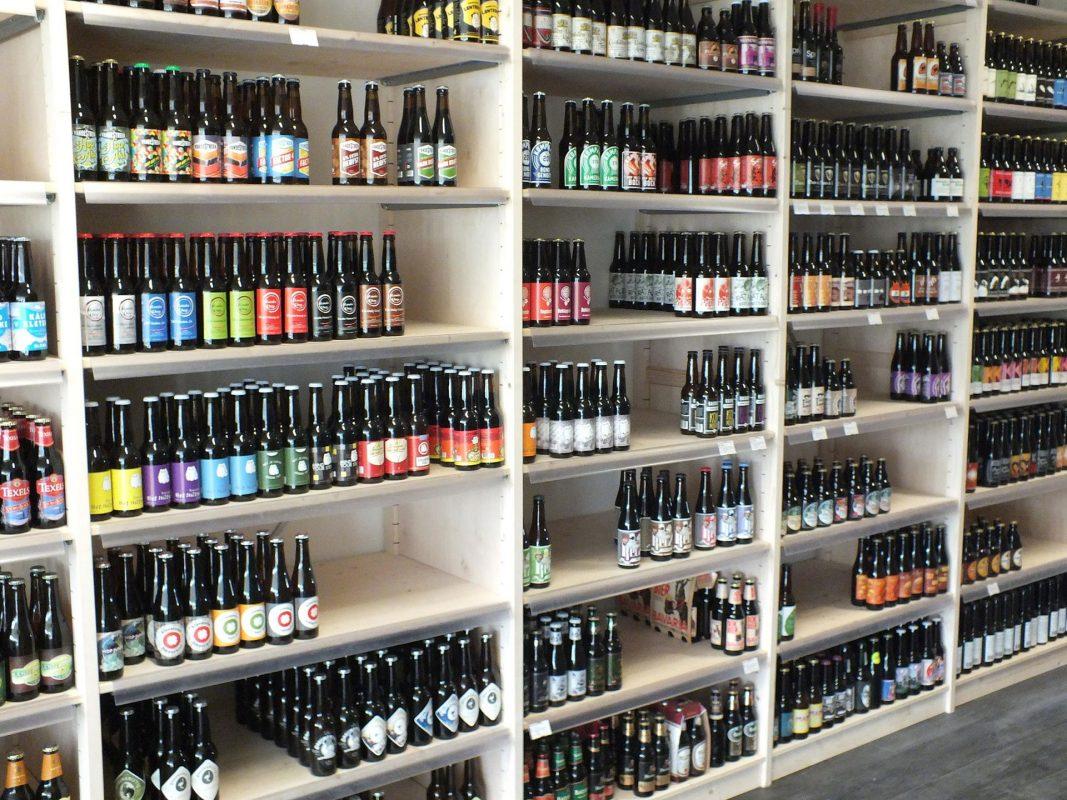 wijnwinkelinrichting drankenhandel bouwhuis